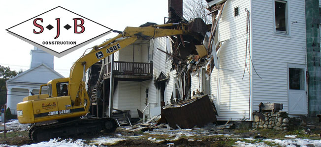 Building demolition in Massachusetts, Worcester County — SJB Construction