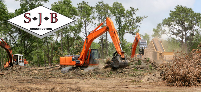 lot clearing and tree removal in Central Massachusetts - SJB Construction